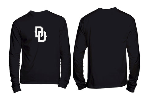 DD Chest Crest Long Sleeve Tee Black Black