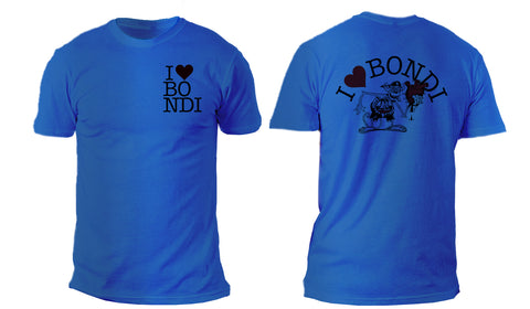 I love Bondi - Monkey Tee Blue