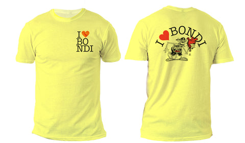I love Bondi - Yellow monkey tee