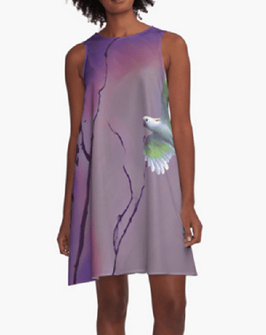 Bird in Flight A-Line Dress
