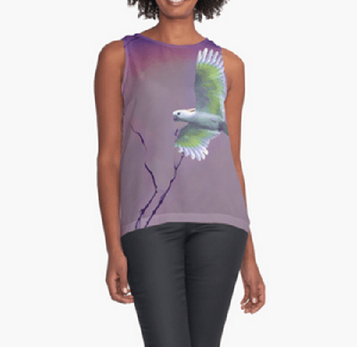 Bird in Flight Contrast Tank Top