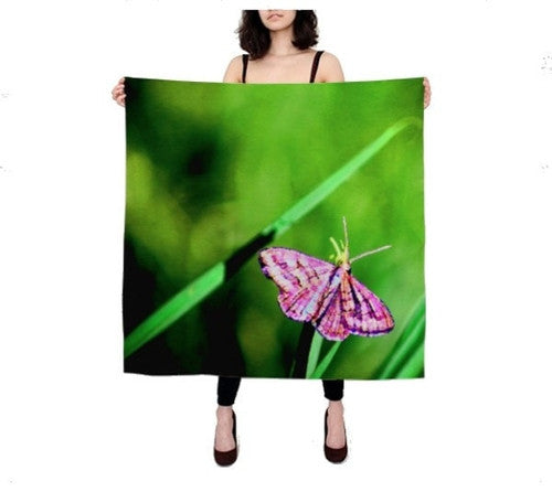 Butterfly on Grass Scarf