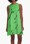 IbisSky Green ALine Dress