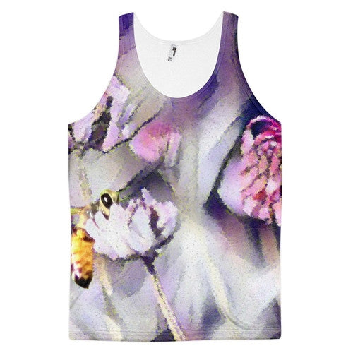 Bee Behind a Flower Classic fit Tank Top