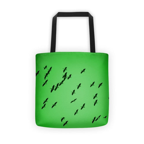 IbisSky Green Tote bag