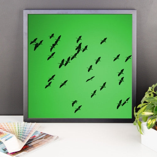 IbisSky Green Framed poster - JenC Designs
