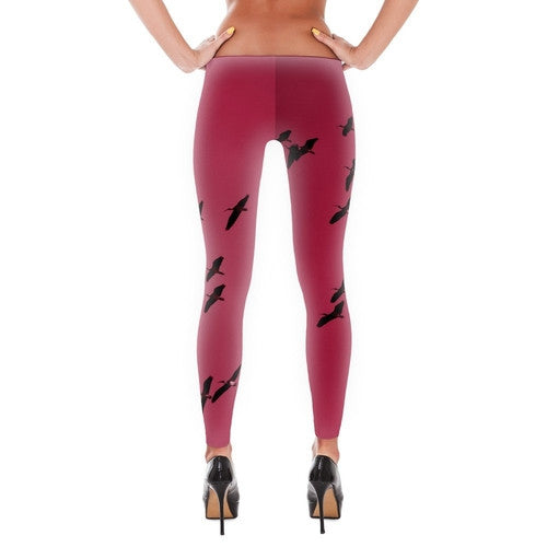 IbisSky Pink Leggings - JenC Designs