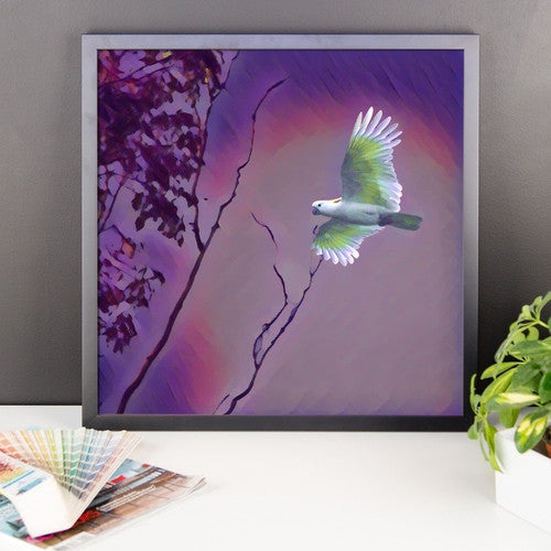 Bird in Flight Framed poster - JenC Designs