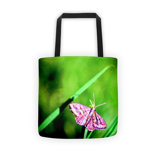 Butterfly on Grass Tote bag