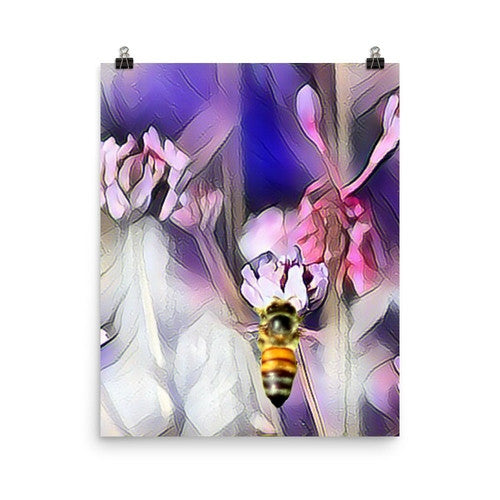 Bee on a Flower Poster - JenC Designs