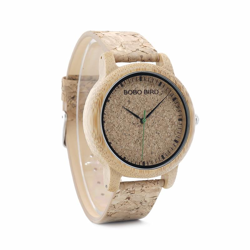 Natural Bamboo and Cork Watch