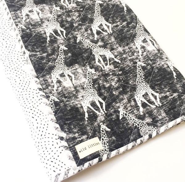 Monochrome Safari Wholecloth Quilt - Made to Order