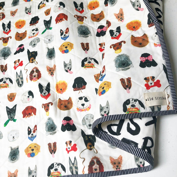 Dawg Days Wholecloth Quilt - Made to Order