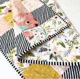Full Bloom Floral Wholecloth Quilt - Made to Order