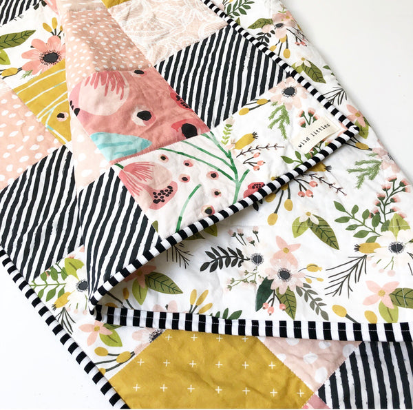 Full Bloom Floral Wholecloth Quilt