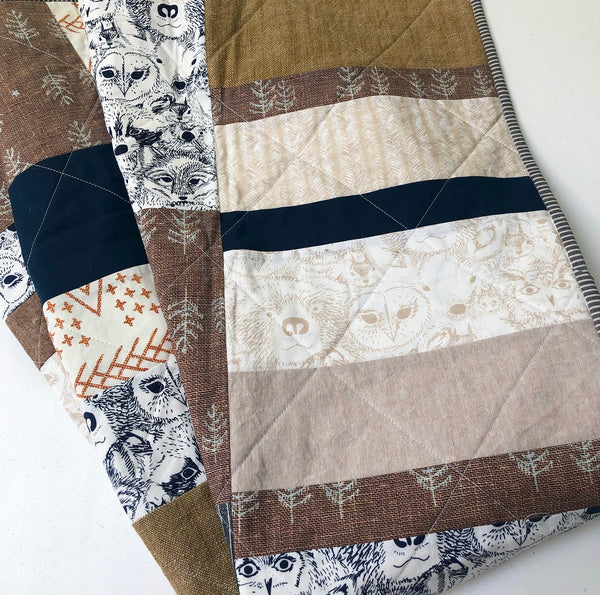 Prince George Patchwork Baby Quilt