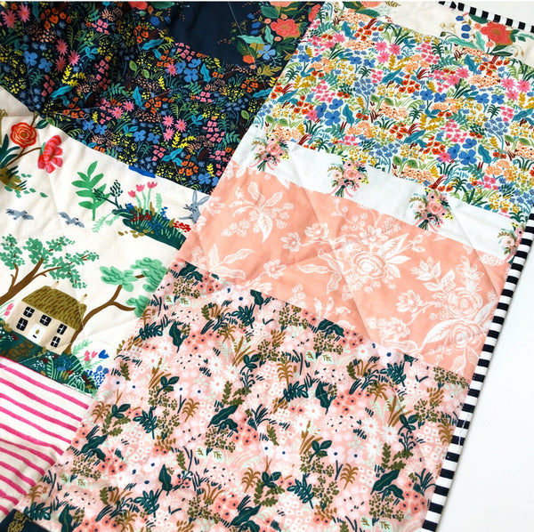 Rifle Paper Co Fabric English Garden Floral Patchwork Quilt