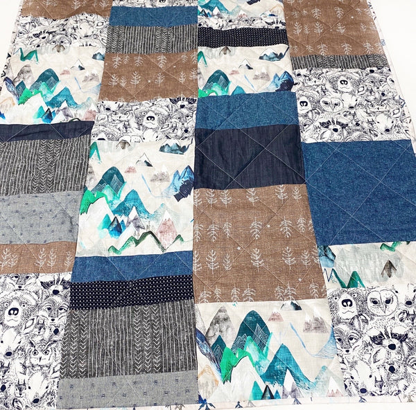 Sea to Sky Patchwork Baby Quilt