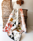 Forest + Blush Puzzlecloth Wholecloth Quilt - Made to Order