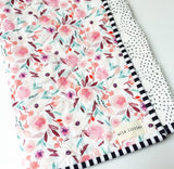 Sage Watercolour Floral Wholecloth Quilt - Made to Order