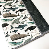 Just You + Me and the Big Blue Sea Wholecloth Quilt - Made to Order