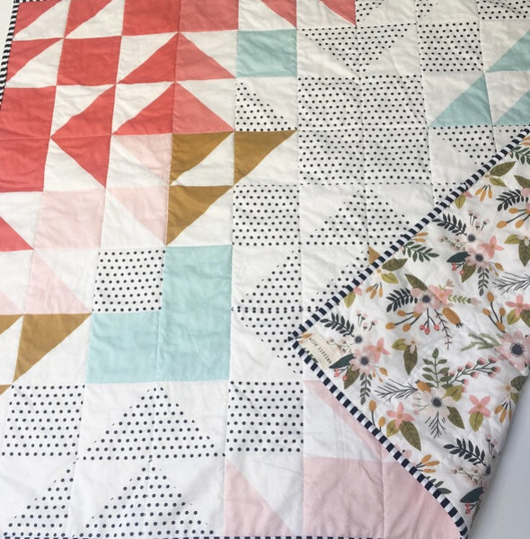 Blush Springs Blooms + Botanicals Wholecloth Quilt