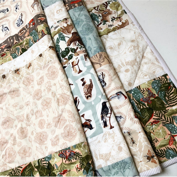 Natural History Patchwork Quilt