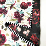 Bordeaux Bouquet Wholecloth Baby Quilt - Made to Order