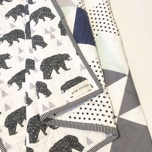 Bear with Me Wholecloth Quilt - Made to Order