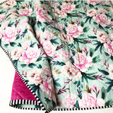 Odette Floral Wholecloth Quilt - Made to Order
