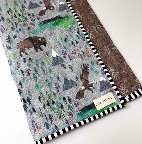 October in the Wild Wholecloth Quilt - Made to Order