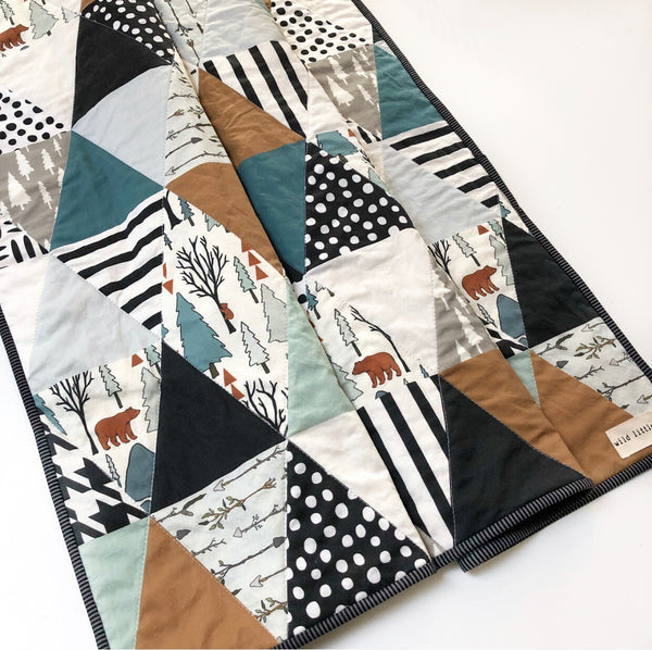 Woodland Park Wholecloth Quilt - Made to Order