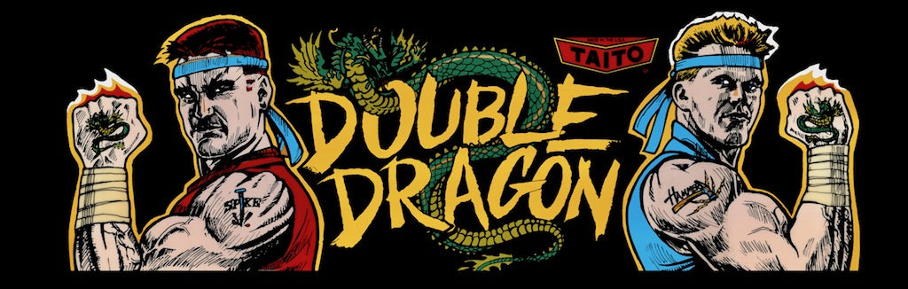 Double Dragon Arcade marquee art