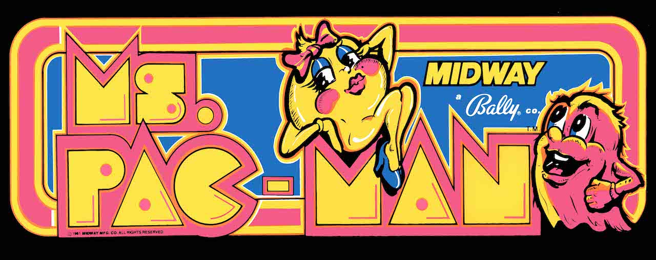 Ms. Pac-Man Arcade Marquee Art
