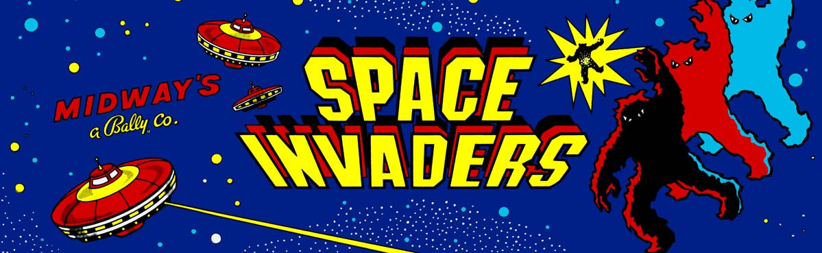 Space Invaders Arcade Marquee Art