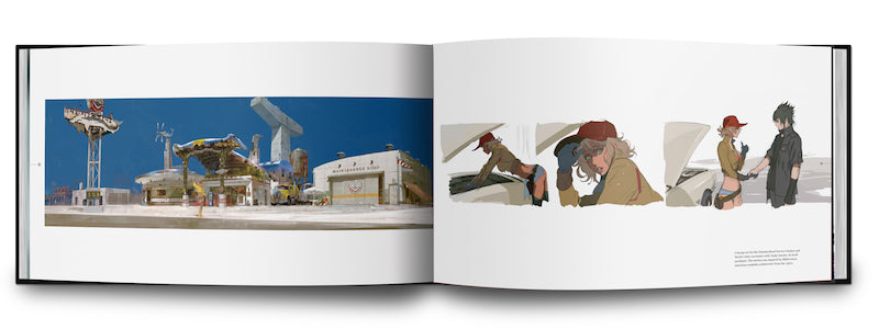 The Art and Design of Final Fantasy XV book concept art