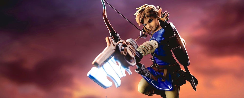 Breath of the wild Link figurine front attack