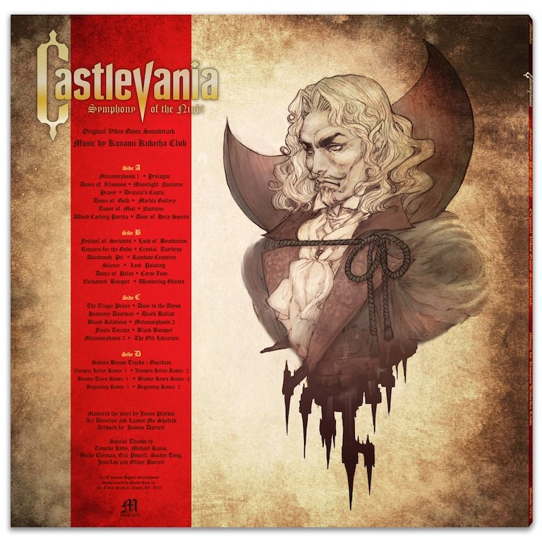 Castlevania - Symphony Of The Night Vinyl Soundtrack Rear Cover