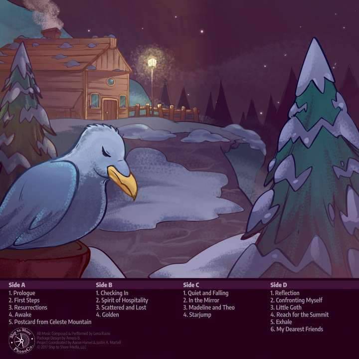 Celeste Vinyl Soundtrack Rear artwork