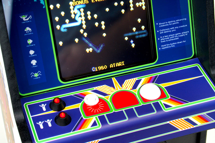 RepliCade Mini Centipede control panel close up