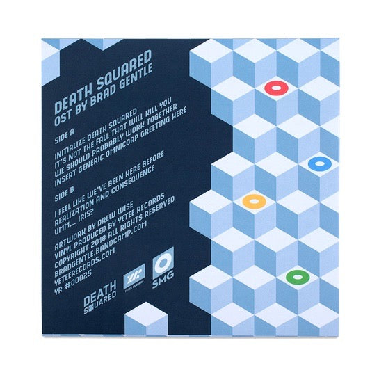 Death Squared Vinyl Record Soundtrack rear cover