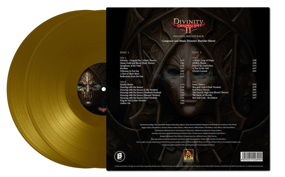 Divinity Original Sin 2 Soundtrack (Gold Vinyl) 2