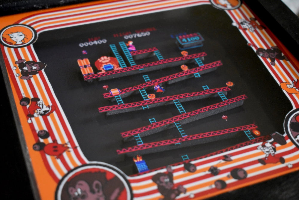 Donkey Kong Arcade Shadow Box