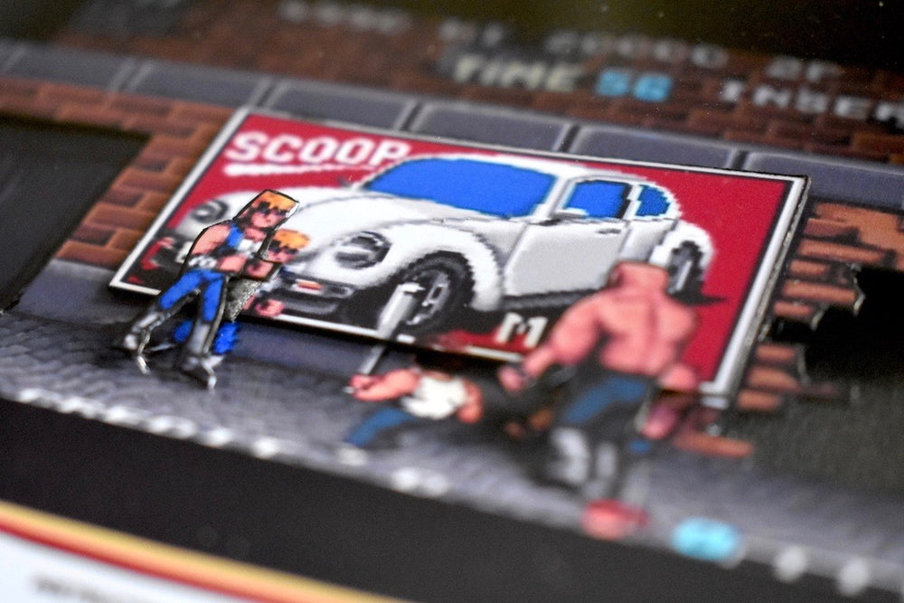 Double Dragon 3D Diorama Close up