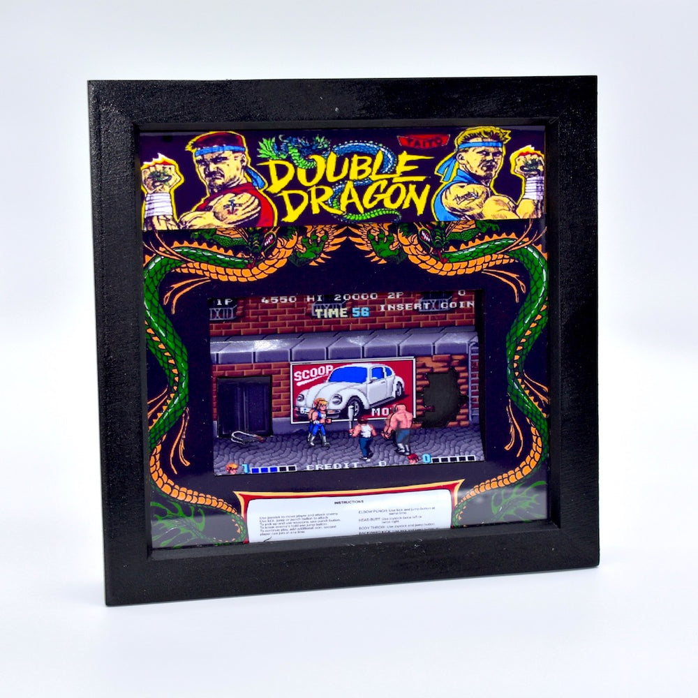 Double Dragon Arcade Diorama
