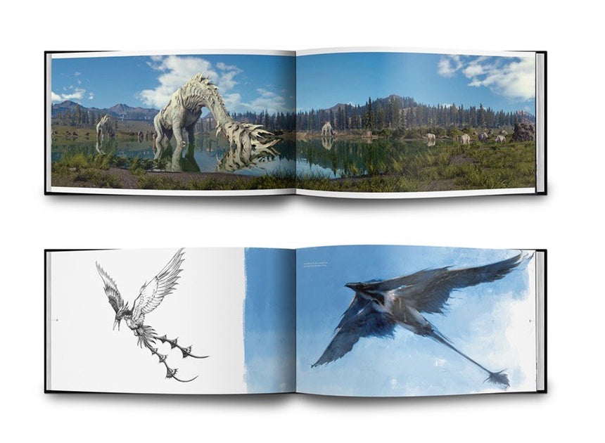 The Art and Design of Final Fantasy XV inside book concept art
