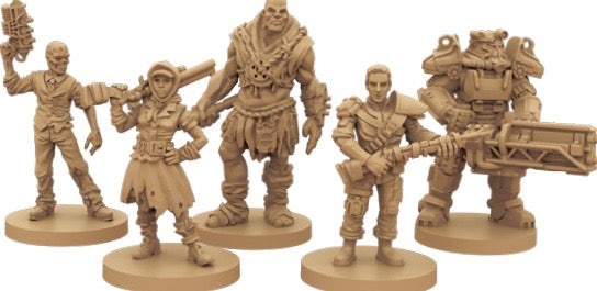 Fallout the board game character pieces