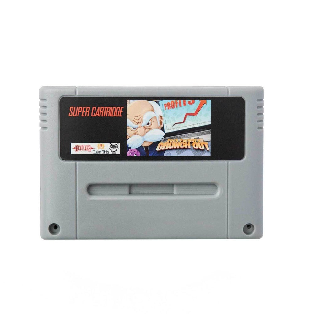 Fork Parker's Crunch Out - Super Nintendo Cartridge 3