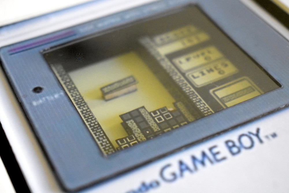 Gameboy Tetris playing