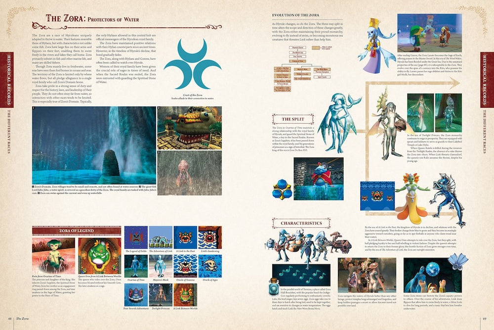 Legend of Zelda Encyclopedia inside the book